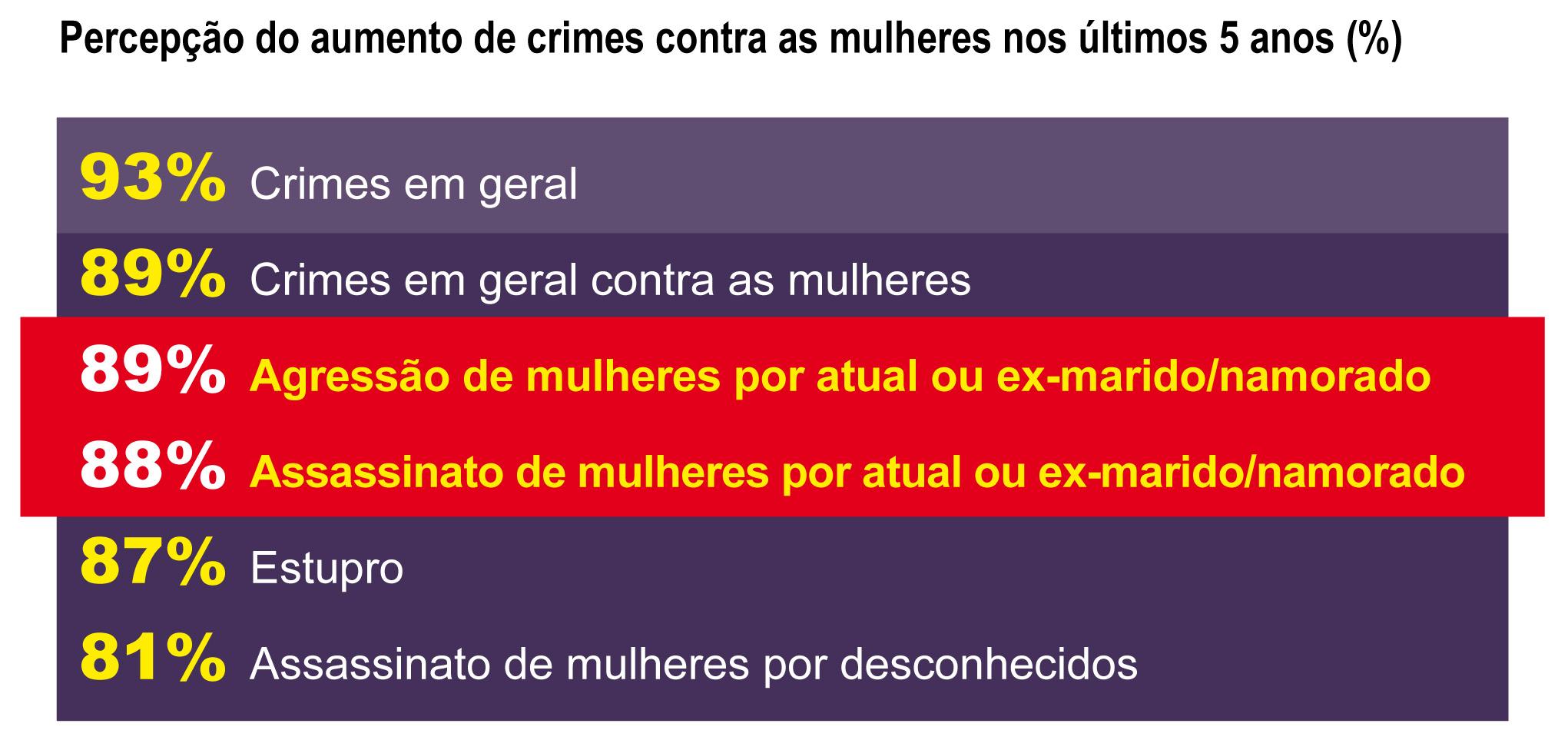 Percepção da sociedade sobre violência e assassinatos de mulheres (Data Popular/Instituto Patrícia Galvão, 2013)