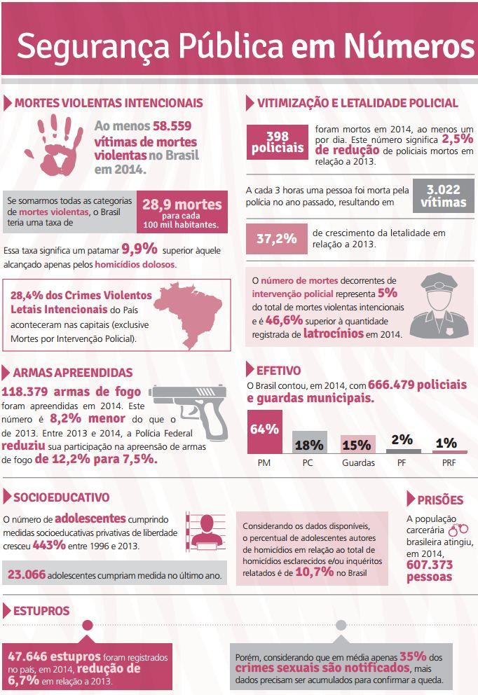 dados principais anuario brasileiro de seguranca publica 2015